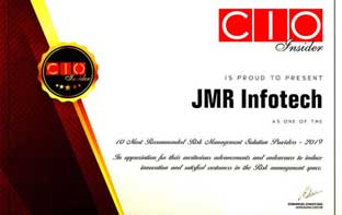 JMR Infotech Ranked Among the 10 Most Recommended Risk Management Solution Providers by CIO Insider